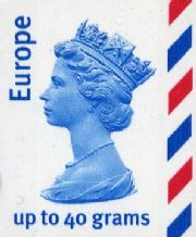Europe up to 40 grams covers up to 100 grams S/A Stamp worth £1.70